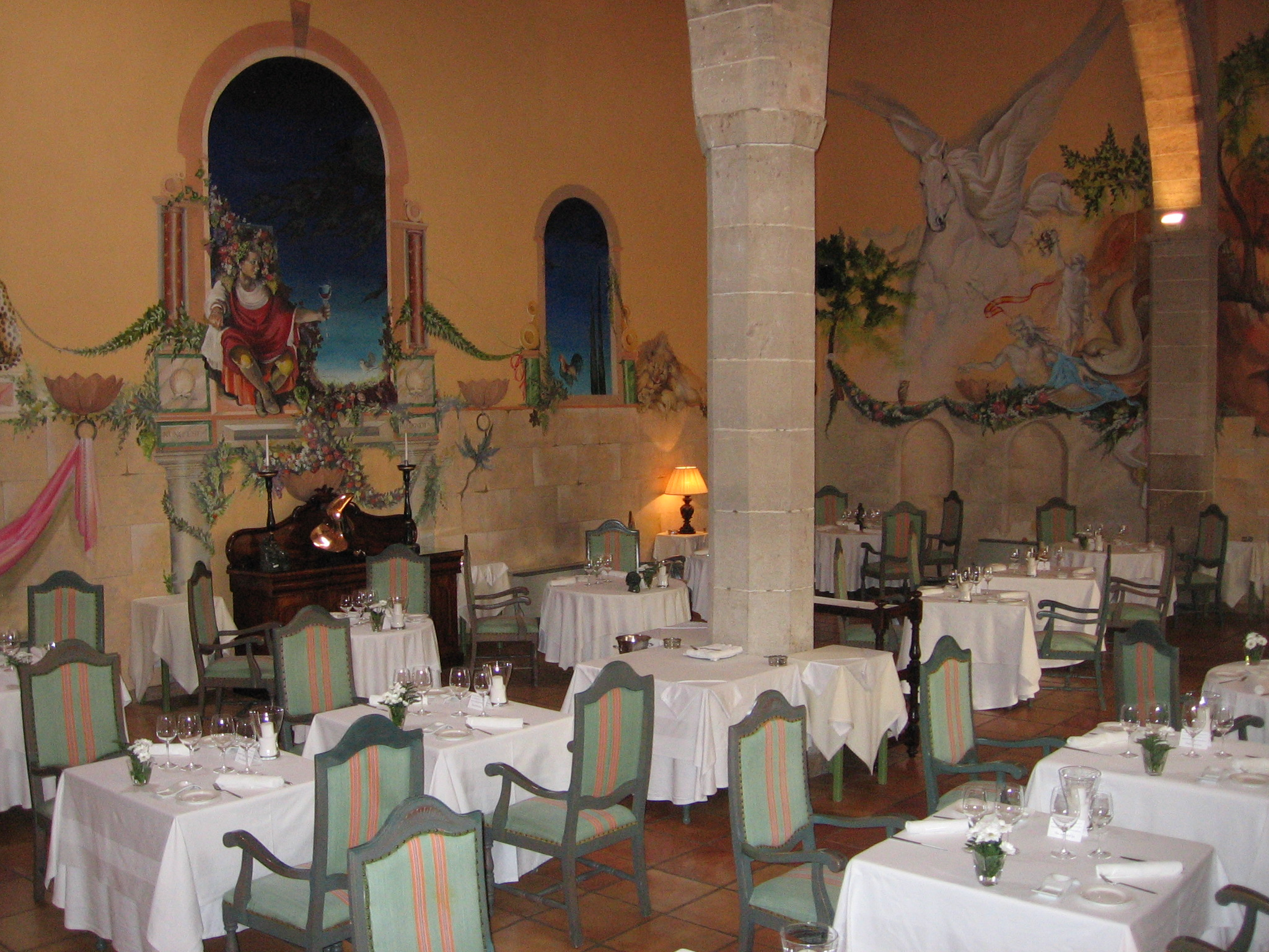 Bacchus restaurant as it was